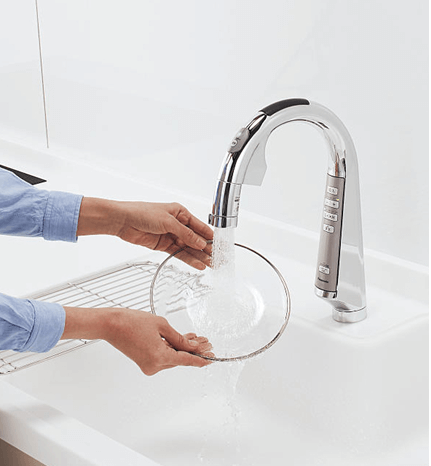 節水センサー水栓
