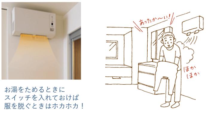 脱衣室暖房衣類乾燥機